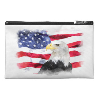 AMERICAN FLAG & EAGLE TRAVEL ACCESSORY BAGS