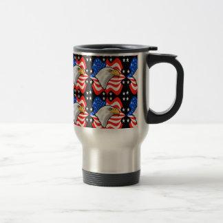 American Flag & Eagle Travel Mug