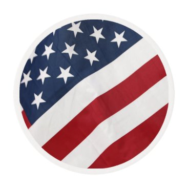 USA Themed American Flag Edible Frosting Rounds