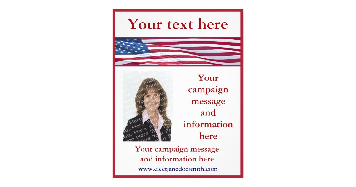 american flag election campaign flyer template zazzlecom