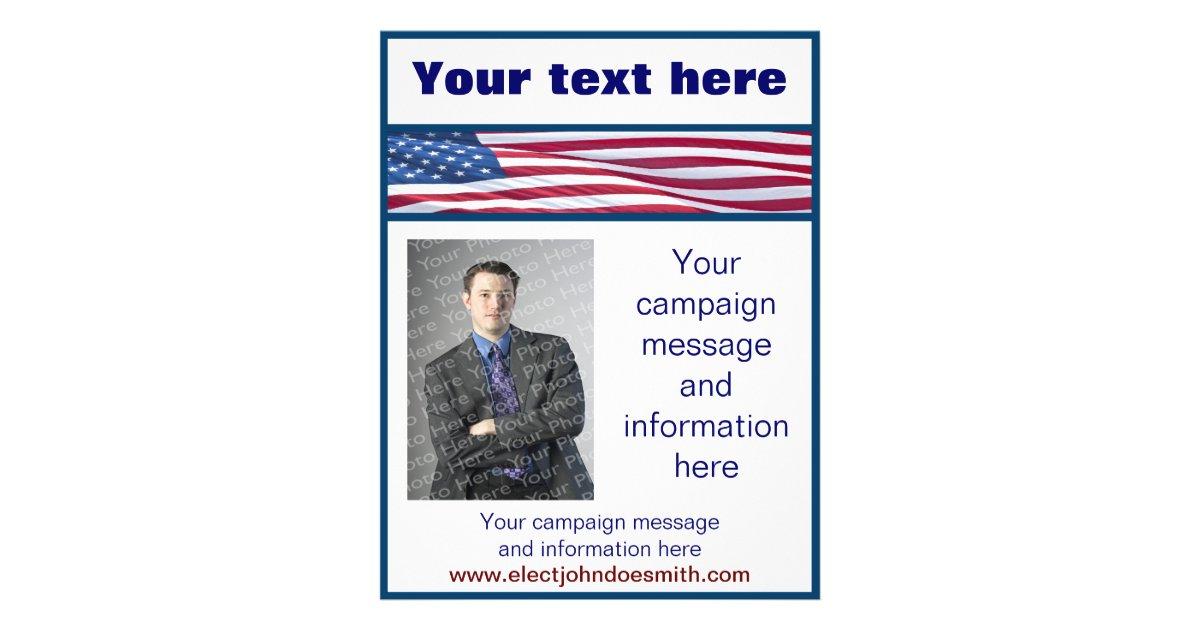 american flag election campaign flyer template. Black Bedroom Furniture Sets. Home Design Ideas