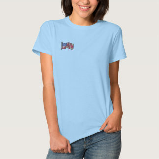 American Flag Embroidered Shirt