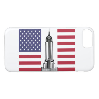 American Flag Empire State Building iPhone 7 Case