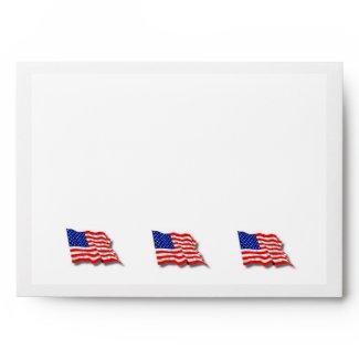 American Flag Envelope envelope