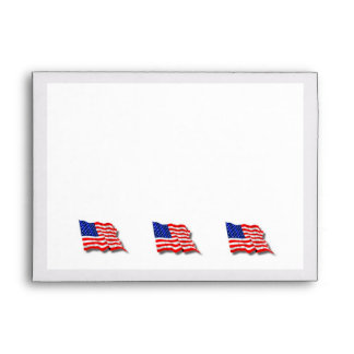 American Flag Envelope
