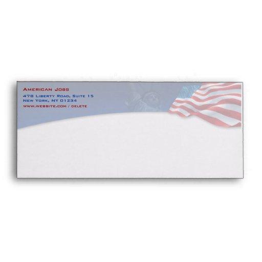 American Flag Envelope #10