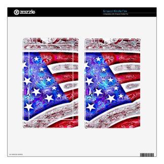 AMERICAN FLAG eReader Skin Decal For Kindle Fire