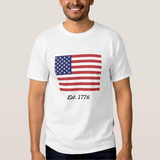 American Flag Est. 1776 T Shirt