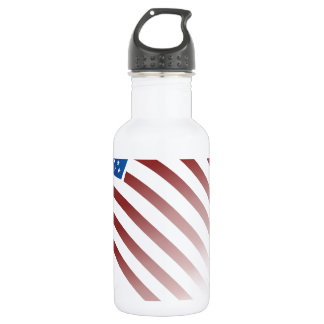 American Flag Fade 18oz Water Bottle