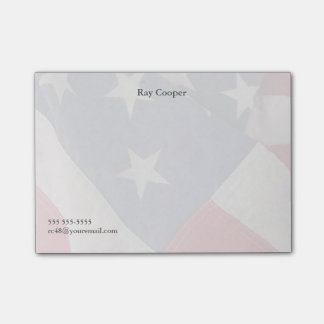 American flag fade post-it notes