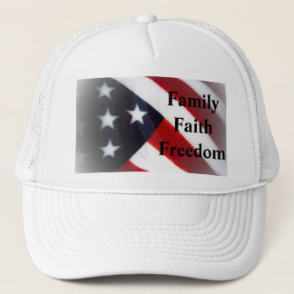 American Flag Family, Faith & Freedom Cap