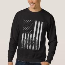American Flag Farm Tractor Patriotic US Farming Sweatshirt