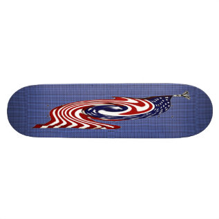 American Flag Fast Flow Skateboard at Zazzle