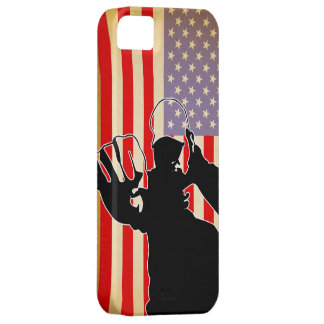 american flag/fight funda para iPhone SE/5/5s