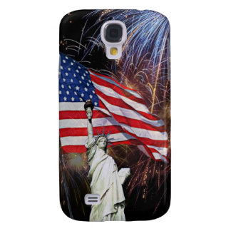 American Flag, Fireworks and Statue of Liberty Samsung S4 Case