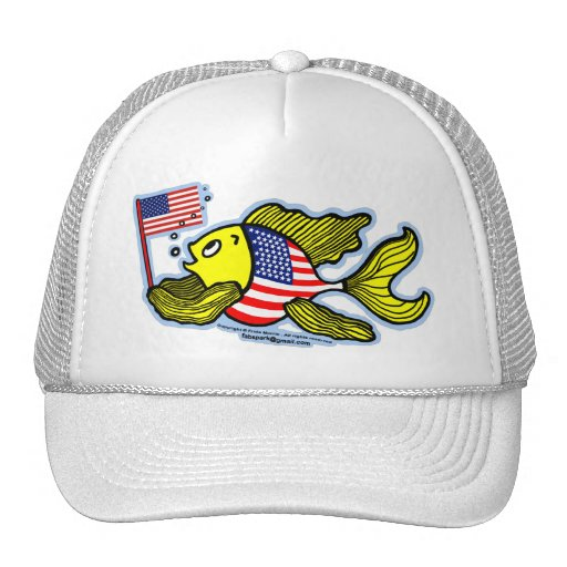 American flag fish trucker hat zazzle for American flag fish hat