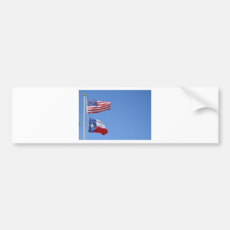 American Flag Flags Texas Stars Stripes Bumper Sticker