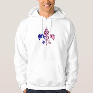 American flag fleur de lis hoodie