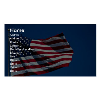American flag flying business card