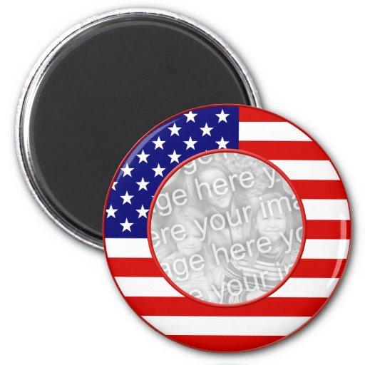 American Flag Frame Magnets