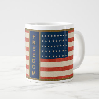 American Flag Freedom Large Coffee Mug