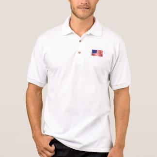 American Flag  Gildan Jersey Polo Shirt