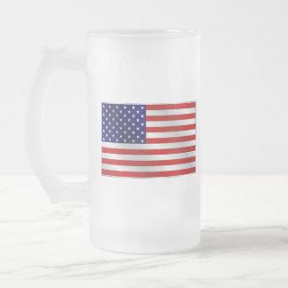 American Flag Glass Mug
