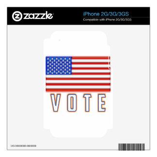 American Flag Glossy Vote iPhone 3 Skin