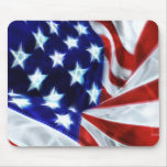 American Flag Glowing Stars Mousepad