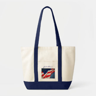 American Flag God Bless Canvas Tote Bag