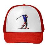 American Flag Golf Hat