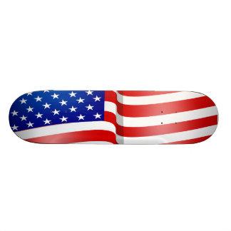 American Flag Good 'Ol Red White Blue Skateboard
