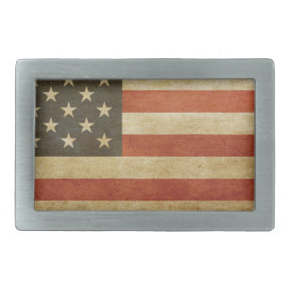 American Flag Grunge Belt Buckle