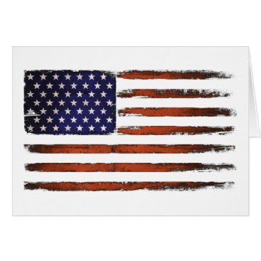 American Flag Grunge Edition Card