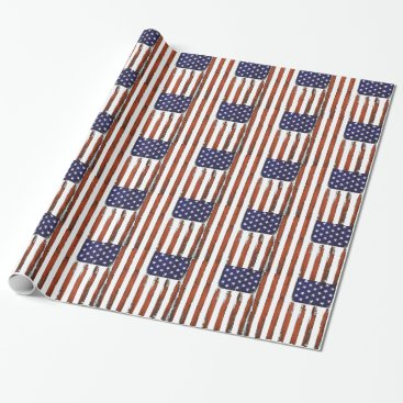 American Flag Grunge Edition Wrapping Paper