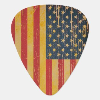 American Flag Grunge Guitar Picks by HumphreyKing at Zazzle
