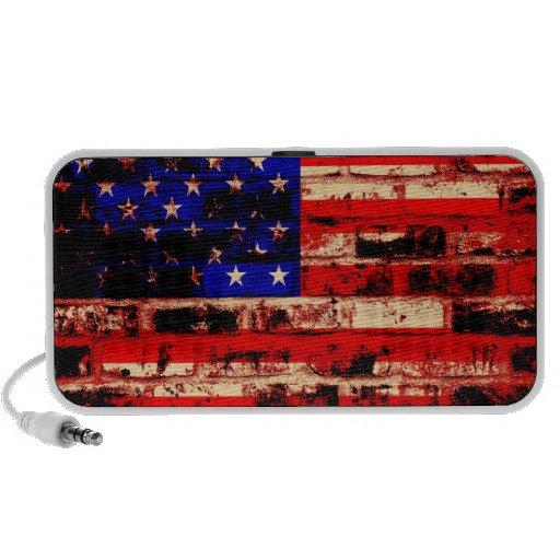 American Flag Grunge iPhone Speaker