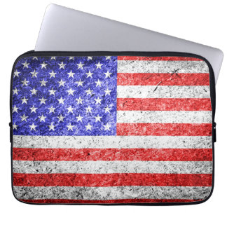 American Flag Grunge Computer Sleeves