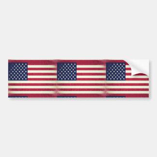American flag (Grunged) Bumper Sticker