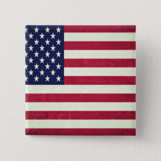 American flag (Grunged) Pinback Button