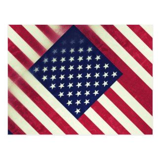 American flag (Grunged) Postcard