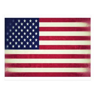 American flag (Grunged) Postcards