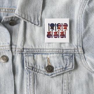 American Flag Guitar Art Pinback Button