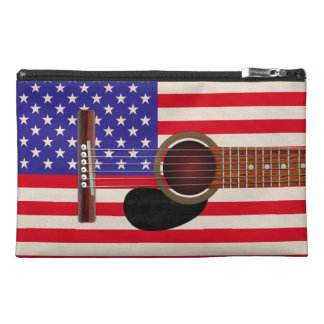 American Flag Guitar Travel Accessory Bags