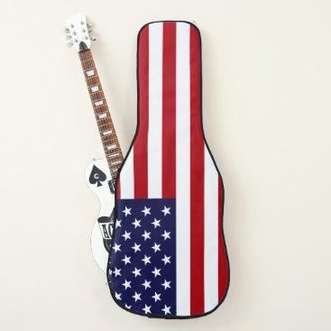 USA Themed American Flag Guitar Case