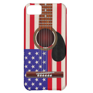 American Flag Guitar Case For iPhone 5C