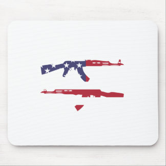 American Flag_Guns Mouse Pad