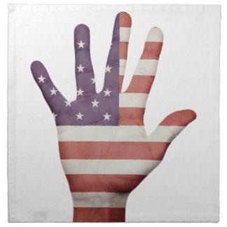 American Flag Hand Cloth Napkin