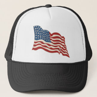 AMERICAN FLAG HAPPY 4TH OF JULY TRUCKER HAT