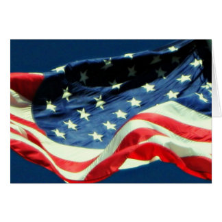 American Flag Happy Veterans Day Military Card